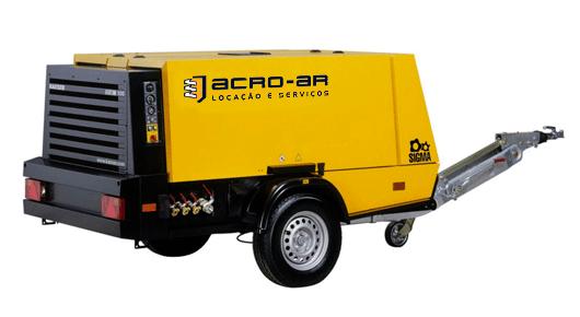 Compressor de Ar á Diesel 210PCM